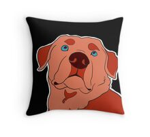 Dramatic Lab in Red Throw Pillow