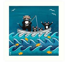 Fishing Trip with Dad Art Print