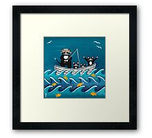 Fishing Trip with Dad Framed Print