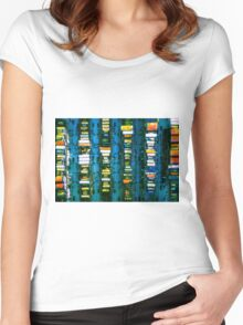 Vintage electronic board Women's Fitted Scoop T-Shirt