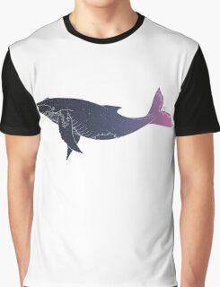 Sky Whale (transparent lines) (horizontal) Graphic T-Shirt
