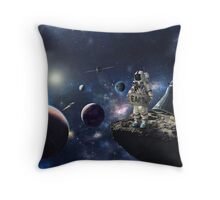 Stuck in Space Throw Pillow