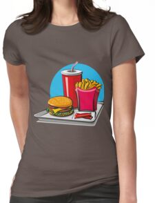 Fast food! Do you like it? Womens Fitted T-Shirt