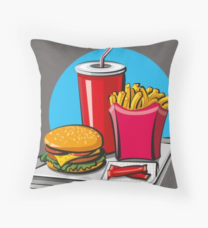 Fast food! Do you like it? Throw Pillow