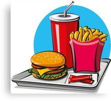 Fast food! Do you like it? Canvas Print