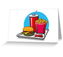 Fast food! Do you like it? Greeting Card