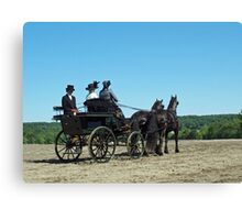 That Carriage Ride on Sunday Morning... Canvas Print