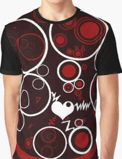 Beautiful Cushions/ Pattern Red and Black circles Graphic T-Shirt