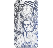 Cthulhu Howard Phillips Lovecraft HP historical society Blue iPhone Case/Skin