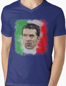 Buffon Mens V-Neck T-Shirt