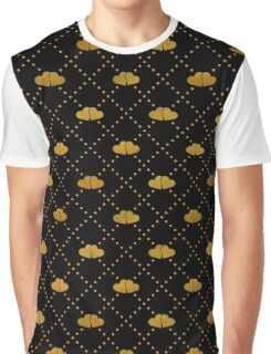 Golden hearts on black. Graphic T-Shirt