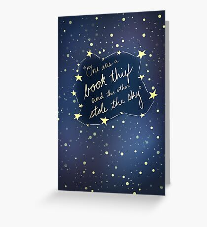 Book Thief/Sky Stealer 2.0 Greeting Card
