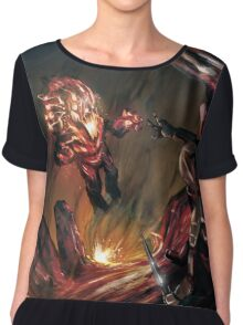 Attack of the Elemental Beast Chiffon Top