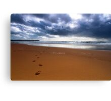 Walk Away From The Storm.. Canvas Print
