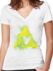 Triforce it Up Women's Fitted V-Neck T-Shirt