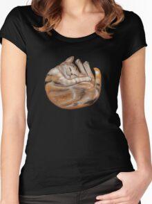 Diamond n Rust Women's Fitted Scoop T-Shirt