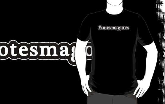Totes Magotes - Hashtag - Black & White by graphix