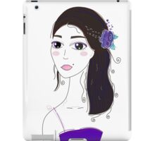 Beautiful Original illustration of Slavic Girl with Black Hair iPad Case/Skin