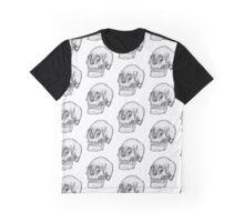 Pointillism Skull Graphic T-Shirt
