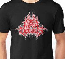 As Flesh Decays logo - Red And White logo Unisex T-Shirt