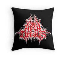 As Flesh Decays logo - Red And White logo Throw Pillow