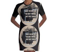 DON'T HURT YOURSELF, Graphic T-Shirt Dress