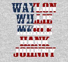 Waylon Jennings Willie Nelson Merle Haggard Hank Williams Johnny Cash  Unisex T-Shirt