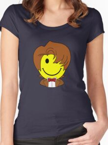 Happy Dr. Who Face Women's Fitted Scoop T-Shirt