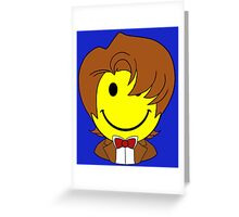 Happy Dr. Who Face Greeting Card