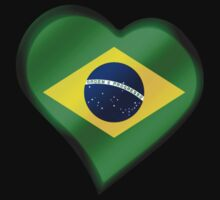 Brazilian Flag - Brazil - Heart by graphix