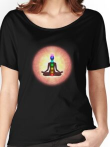 Chakra Meditation Print Women's Relaxed Fit T-Shirt