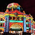 Flinders Street Station White Night by Sally McLean