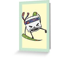 String Bean Ninja Greeting Card