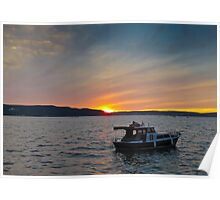 Supper at Sunset Poster