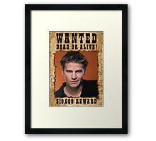 Buffy Angel David Boreanaz Wanted Framed Print