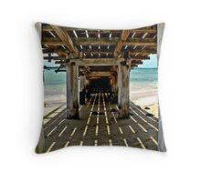 Under the Ramp Throw Pillow