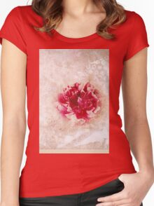 Vintage Peony Women's Fitted Scoop T-Shirt