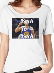Golden State Warriors Champions BACK TO BACK BABY Women's Relaxed Fit T-Shirt