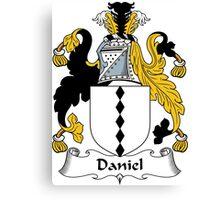 Daniel Coat of Arms / Daniel Family Crest Canvas Print