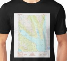 USGS TOPO Map Alaska AK Skagway B-2 SE 353814 1991 25000 Unisex T-Shirt