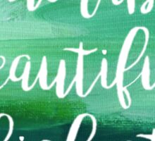 Honorable Beautiful Highest Sticker
