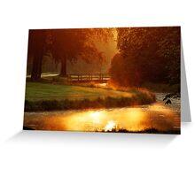 Morning light at Groeneveld Greeting Card