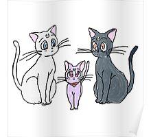 Sailor Moon Cats  Poster