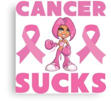 Cancer Sucks Canvas Print