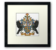 Saint Lucia Coat of Arms If you like, please purchase, try a cell phone cover thanks Framed Print