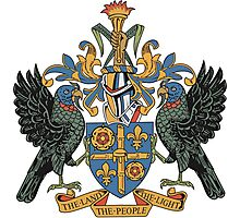 Saint Lucia Coat of Arms Photographic Print