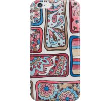 Paisley Blocks Red iPhone Case/Skin