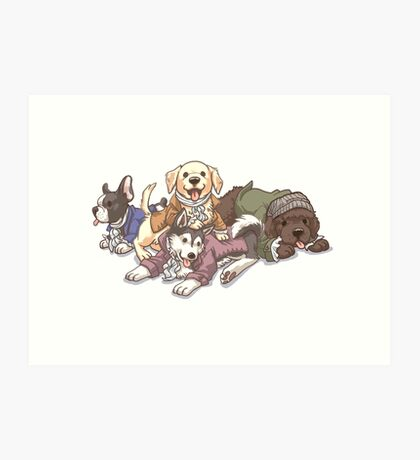 Hamilton Musical x Broadway Dogs Art Print