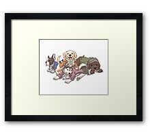 Hamilton Musical x Broadway Dogs Framed Print