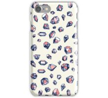 Navy & Coral Crystals iPhone Case/Skin